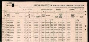 Lista pasajeros 1941